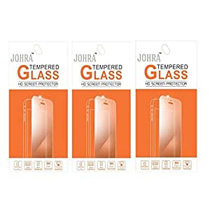 Johra Pack of 3 Tempered Glass Screen Scratch Guard Protector For Micromax Canvas Mega 4G Q417