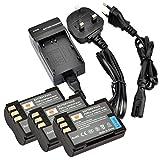 DSTE® (3-pack) BLM-1 Rechargeable Li-ion Battery + Charger DC11U for Olympus BLM-01, PS-BLM1 and Olympus EVOLT E-300, E-330, E-500, E-510, C-5060, C-7070, C-8080, E-1, E-3, E-30, E-520 Digital Cameras
