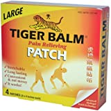 Pain Relieving Patch, Large, 4 Patches (8 x 4 in. Each), From Tiger Balm