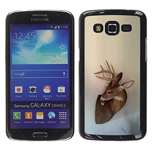 Antlers Beige Natura Primavera animale - Aluminum Metal & plastica dura Phone caso - nero - Samsung Galaxy Grand 2