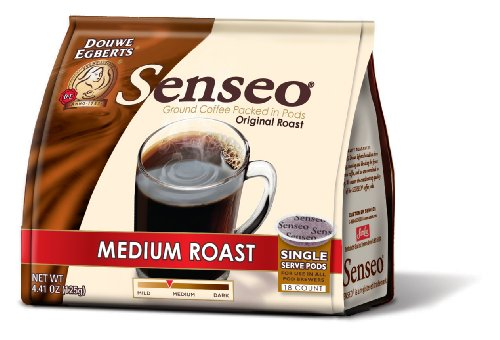 Senseo Medium Roast Coffee Pods, 18-Count Pods (Pack of 4)