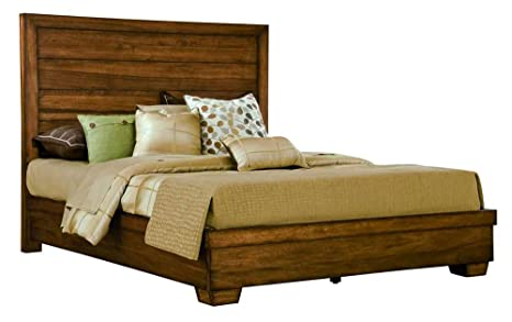 angelo:HOME 4J37L6 Chelsea Park Solid Wood Panel Bed, California King, Macchiato