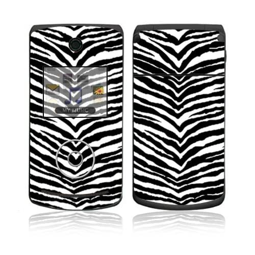 Black Zebra Skin Decorative Skin Cover Decal Sticker for LG Chocolate 3 / Chocolate III Cell Phone