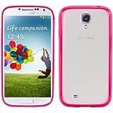 kwmobile® TPU Silikon Crystal Case für das Samsung Galaxy S4 i9505 / i9506 LTE+ mit transparenter Rückenfläche und Rahmen in Pink - Schick und schlicht