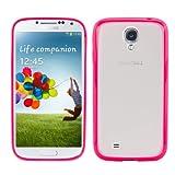 kwmobile� Schickes, schlichtes TPU Crystal Case f�r das Samsung Galaxy S4 i9505 / i9506 LTE+ mit transparenter R�ckenfl�che und Rahmen in Pink