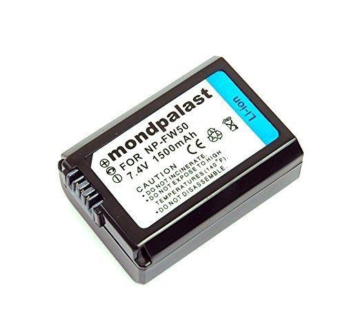 Mondpalast ® 1 x Qualitäts akku 1080 mah für Sony NP-FW50 Ersatzakku für Sony NP-FW50 passend zu Sony A6000 A5000 Alpha 7 CyberShot DSC RX10 -- Sony NEX-6 NEX-F3 NEX-7 NEX-7B NEX-7C NEX-7K NEX-3 NEX-3N NEX-C3 Nex-5 NEX-5N NEX-5K NEX-5R SLT A55 A33 A35 A37 A3000 A5000 A6000 A7 A7r A7s A7 II A7S II A7R II RX10 RX10 II