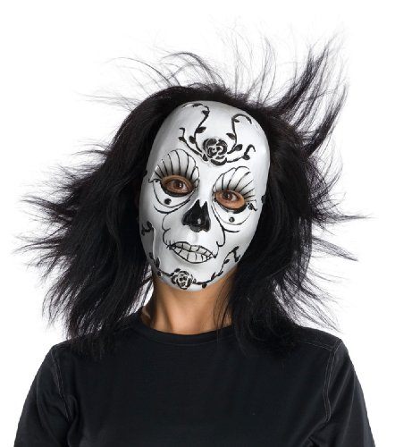 Dark Rose PVC Face Mask Mardi Gras Mask Day Of Dead Mask 4904