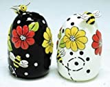 Honey Bees & Flowers Salt and Pepper Shakers Set