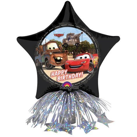 Anagram International Cars B'day Star Centerpiece, 14'