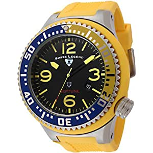 Swiss Legend Men's 21818P-01-YBL Neptune Collection Stainless Steel Yellow Rubber Watch
