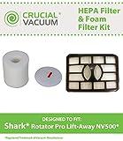 Shark Rotator Pro Lift-Away NV500 HEPA Filter & Foam Filter Kit, Fits Shark Rotator Pro Lift-Away NV500, Compare to Part # XHF500 & XFF500, Designed & Engineered by Crucial Vacuum