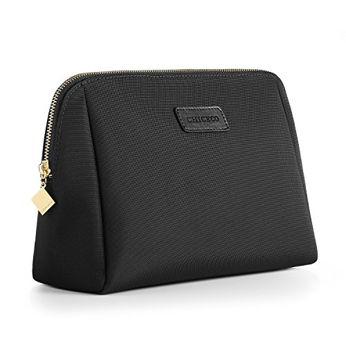 chiceco-handy-nylon-large-makeup-bag-toiletry-bag-organizer-waterproof-black