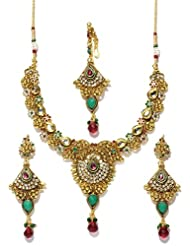 Bindhani gold plated kundan jewellery set-kum104
