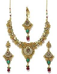 Bindhani Gold Plated Kundan Jewellery Set-kum104