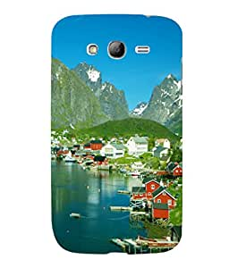 printtech Sea Side Greenery Scenic Country View Back Case Cover for Samsung Galaxy Grand Neo Plus::Samsung Galaxy Grand Neo Plus i9060i