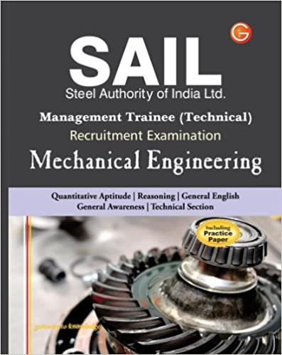 SAIL Steel Authority of India Limited Management Trainee Technical Recruitment Examination: Mechanical Engineering (Including Practice Paper) price comparison at Flipkart, Amazon, Crossword, Uread, Bookadda, Landmark, Homeshop18