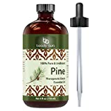 Beauty Aura Pine Essential Oil - 4 Oz Bottle - 100% Pure, Undiluted Therapeutic Grade Oil - Ideal For Aromatherapy - Great Quality Great Value!