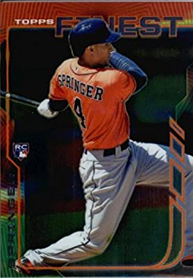 2014 Topps Finest Baseball Rookie Card #39 George Springer, Houston Astros RC MINT