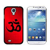 Om Aum Yoga Red - Snap On Hard Protective Case for Samsung Galaxy S4 - Black