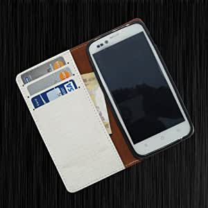 i-KitPit - PU Leather Wallet Flip Case Cover For Nokia Lumia N925 (WHITE)