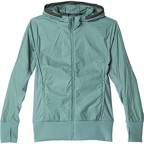 Adidas Womens Pure Amplify Running Jacket L Vapour Steel