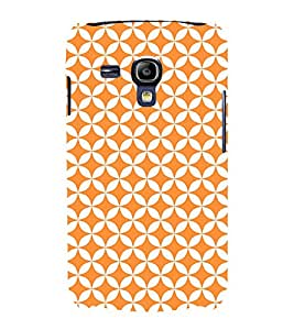 Orange Pentagon 3D Hard Polycarbonate Designer Back Case Cover for Samsung Galaxy S3 Mini :: Samsung Galaxy S3 Mini i8190