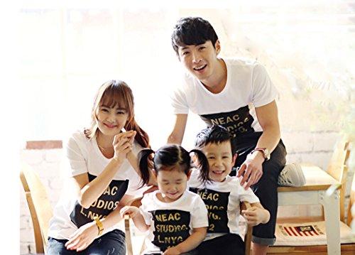 [ニューライフスカイ]子供服 親子ペア 短袖 全家族 子供の服 ホワイト  lbertz0032 (4)
