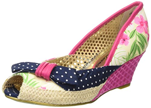Poetic Licence Charmed Life Sandali con Zeppa, Donna, Rosa (Pink/Blue), 36 2/3