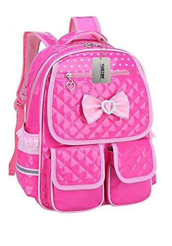 Puretime-Girls-Cute-Pu-Leather-School-Backpack-Satchel-Travel-Bag-Princess-Style