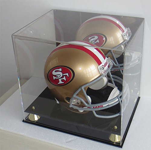 Football Full Size Pro Helmet Display Case  Mirrored