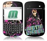 MusicSkins Justin Bieber Glitter Skin for BlackBerry Bold (9900/9300)