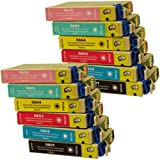 12 CiberDirect Compatible Ink Cartridges for use with Epson Stylus Photo PX800FW Printers.