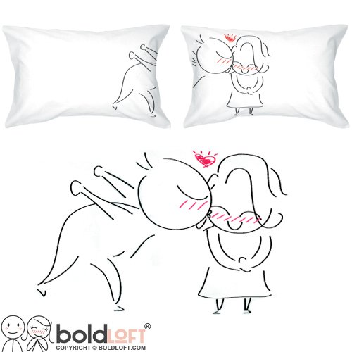 Cute Long Distance Pillow Cases : Long Distance Relationship Pillow Cases, Jewelry & Gifts Snugglenado