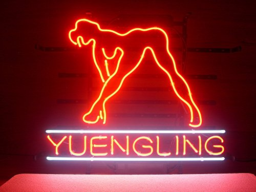 New Yuengling Live Nudes Girl Real Glass Neon Light Sign Home Beer Bar Pub Recreation Room Game Room Windows Garage Wall Sign L147