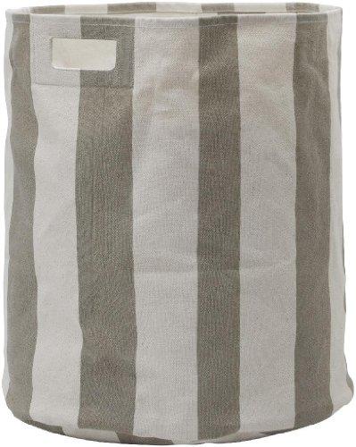 Pehr Designs Stripe Hamper, Taupe