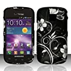 CELL PHONE CASE COVER FOR SAMSUNG ILLUSION/GALAXY PROCLAIM i110 - WHITE FLOWER [In CellCostumes Retail Packaging]