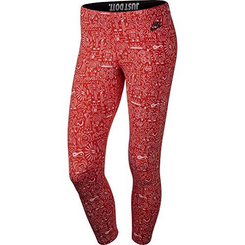 Nike Leg A See AOP Cropped Women's Leggings Red/White 777558-696 (Size L)