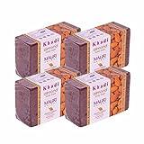 Khadi Mauri Almond Soap Pack of 4 Ayurvedic Natural Handcrafted Herbal