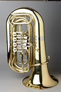 Tempest Agility Winds 3/4 Size BBb Tuba 4 Rotary Valves Ball & Socket Linkage .750 Bore 15 Inch Bell Case w/ Wheels