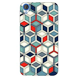 Jugaaduu Wild Hexagon Pattern Back Cover Case For HTC Desire 820 Dual Sim