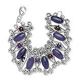 Carolyn Pollack Sterling Silver Emperor's Purple Jade Bracelet ~ Carolyn Pollack