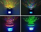 Fashion Camera Lens LCD Music Starry Star Sky Projection Digital Luminous Alarm Clock Backlight Desk Table Clock Despertador.