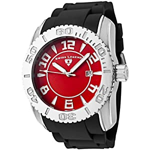 Click to buy Swiss Legend Watches: Mens 20068-05 Commander Collection Stainless Steel Red Dial Watch from Amazon!