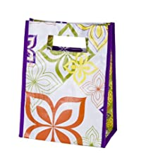 Woven Insulated Lunch Tote - Brights in Luna style
