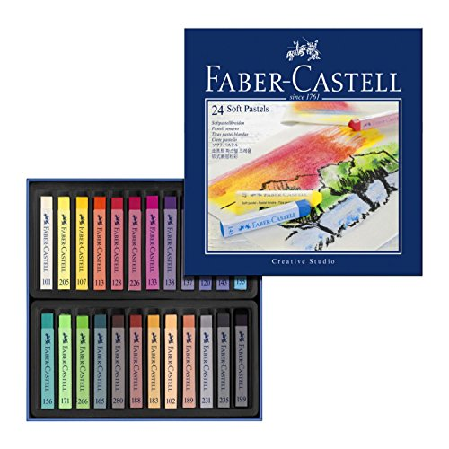 faber-castell-128324-goldfaber-studio-soft-pastel-chalks-pack-of-24-assorted-colours