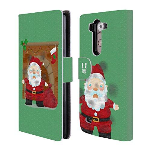Head Case Designs Camino Le Sfortune Di Babbo Natale Cover telefono a portafoglio in pelle per LG G3 S / G3 Beat / G3 Vigor