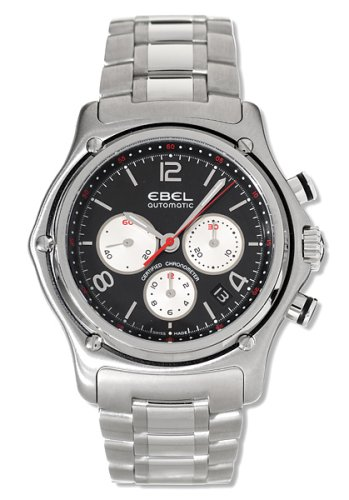 Ebel Men's 9137260/25567 1911 Automatic Chronograph Black Dial Watch