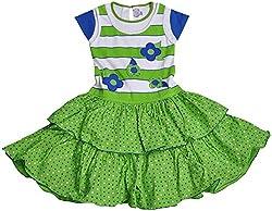 Be BeBo Girl's Cotton Dress (852, Green, 1 Year )
