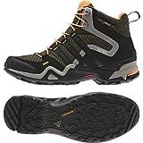 アディダス (adidas) 海外限定モデル 防水トレッキングシューズ 24.0cm テレックス Terrex FAST X HI GTX ゴアテックス ハイカットモデル M29317 ブラック/グリーン 国内正規品