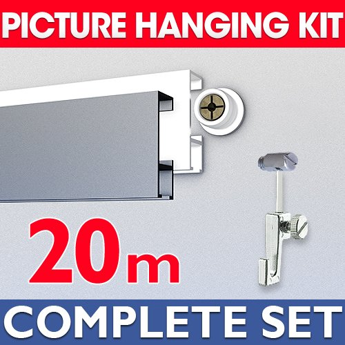 20m Picture hanging Kit with accessories in white